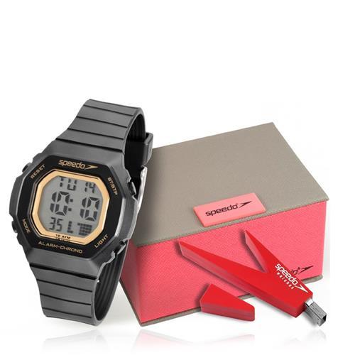 Relógio Feminino Speedo Digital 80615L0EVNP1 Kit com Pen Drive