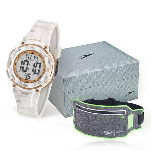 Relógio Feminino Speedo Digital 80616L0EVNP2 Kit com Porta Objetos