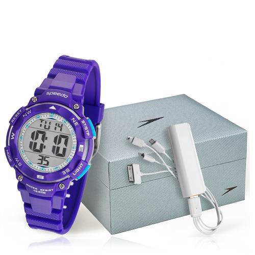 Relógio Feminino Speedo 80616L0EVNP3 Kit com Carregador de Celular