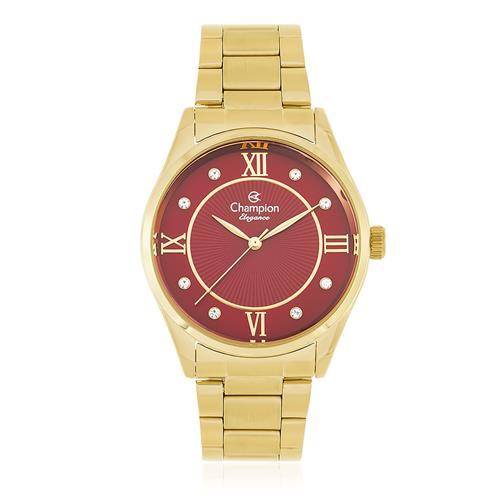 Relógio Feminino Champion Elegance Analógico CN25038I Dourado
