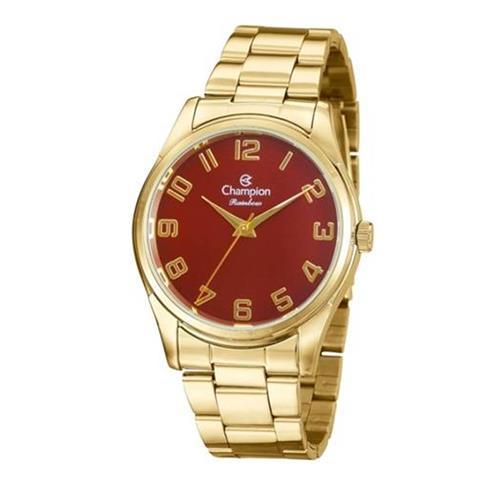 340a7593925 Relógio Feminino Champion Rainbow Analógico CN29884I Dourado