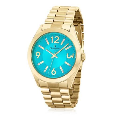 Relógio Feminino Champion Elegance CN25225Y Kit Colar e Par de Brincos