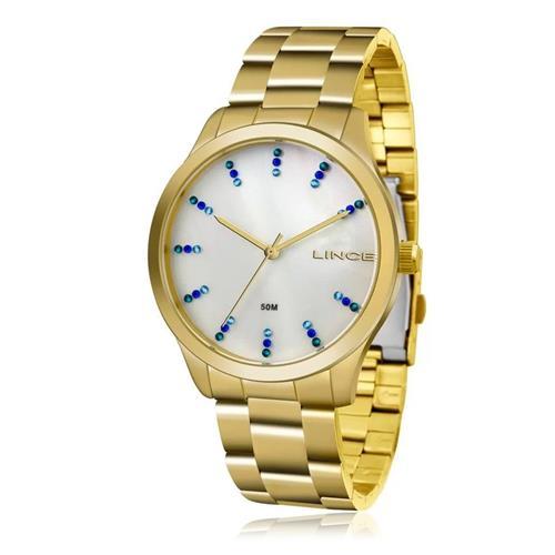 Relógio Feminino Lince Analógico LRG4445L B1KX Dourado