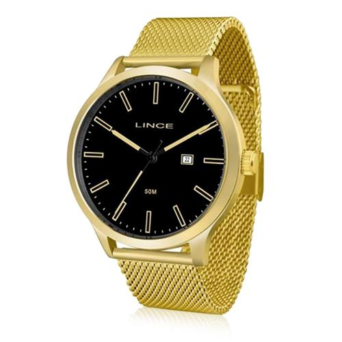 3538051eeb Relógio Masculino Lince Analógico MRG4494S P1KX Dourado