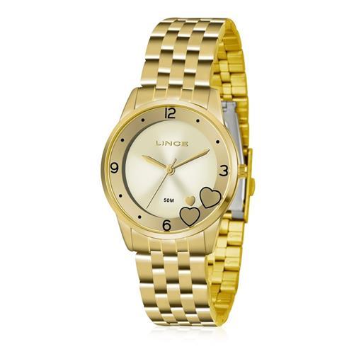 Relógio Feminino Lince Analógico LRG4517L KU35 Kit Colar e Par de Brincos