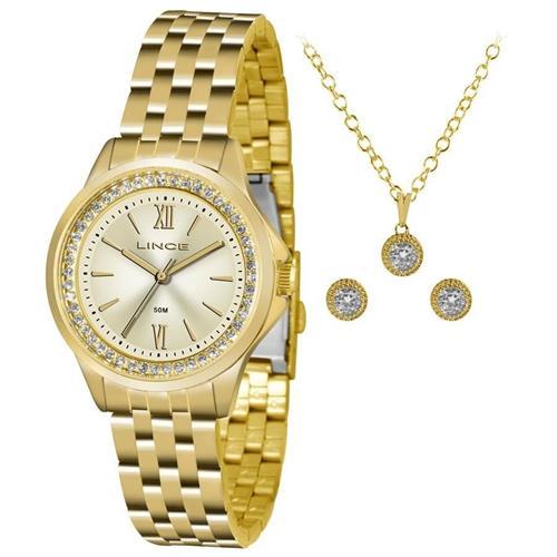 a130c741417 Relógio Feminino Lince Analógico LRG4519L KU75 Kit Colar e Par de Brincos
