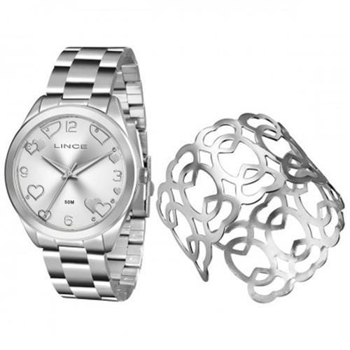 Relógio Feminino Lince Analógico LRM4392L K197 Kit Bracelete