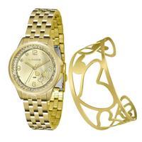 Relógio Feminino Lince Analógico LRG4511L KU62 Kit Bracelete
