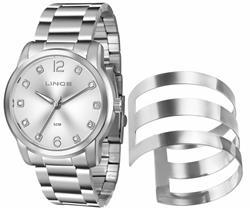 Relógio Feminino Lince Analógico LRM4391L K194 Kit Bracelete