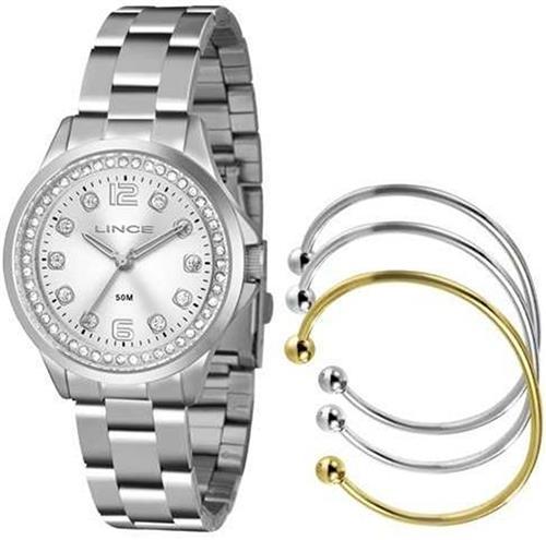 Relógio Feminino Lince Analógico LRM4393L KT00 Kit Braceletes