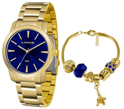 784e1318493 Relógio Feminino Lince Analógico LRG4506L KU52 Kit Pulseira