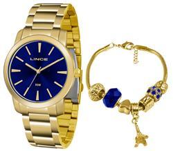 Relógio Feminino Lince Analógico LRG4506L KU52 Kit Pulseira