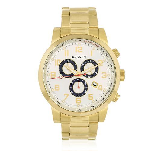 Relógio Masculino Magnum Chronograph MA33166H Dourado