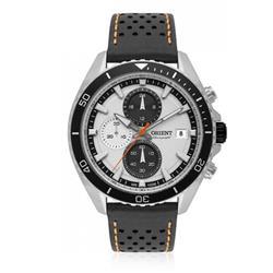Relógio Masculino Orient Chronograph Analógico MBSCC050 S1PX Couro