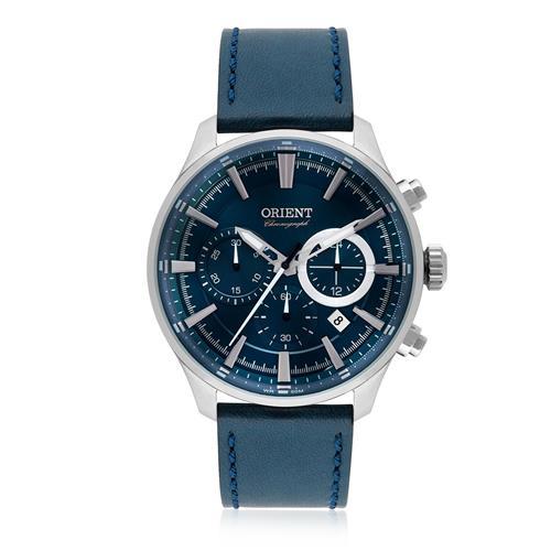 Relógio Masculino Orient Chronograph Analógico MBSCC051 D1DX Couro