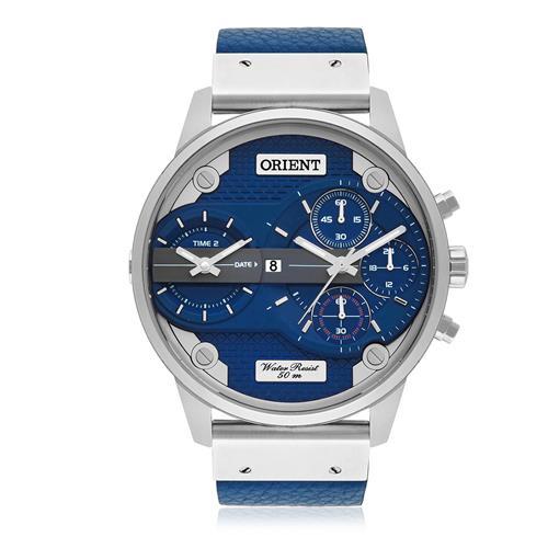 Relógio Masculino Orient Analógico MBSCT002 D1DX Couro