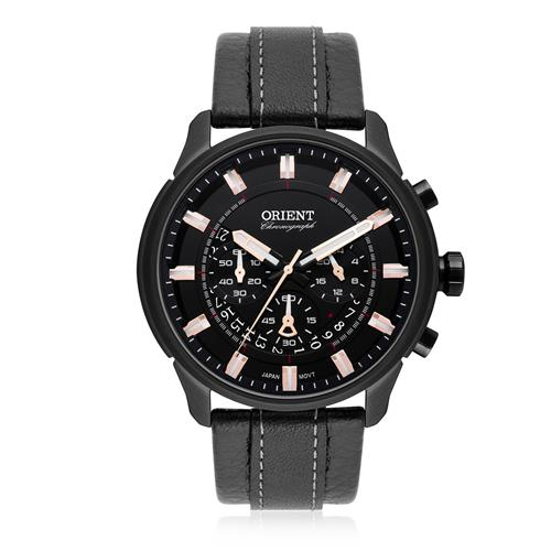 Relógio Masculino Orient Chronograph Analógico MPSCC006 P1PB Couro