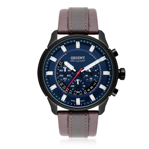 Relógio Masculino Orient Chronograph Analógico MPSCC007 D1NX Couro