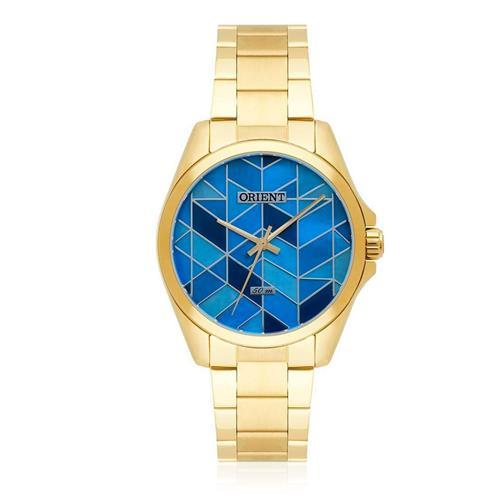 Relógio Feminino Orient Analógico FGSS0080 A1KX Fundo Azul