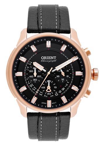 Relógio Masculino Orient Chronograph Analógico MRSCC017 P1PB Couro
