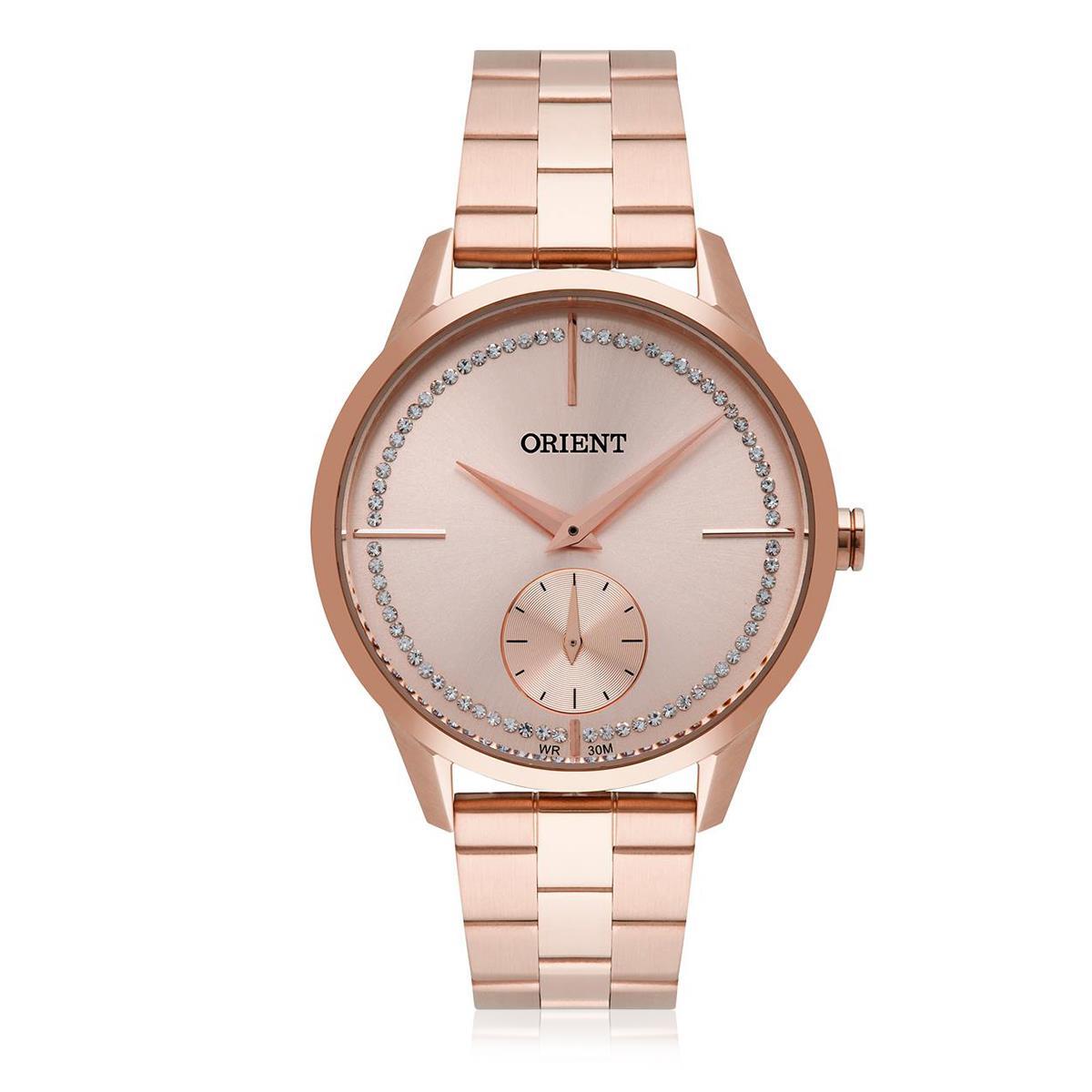d020e2ebcdd Relógio Feminino Orient Analógico FRSS0030 R1RX Rose