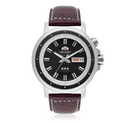 Relógio Masculino Orient Automático 469SS080 P1MX Couro Marrom