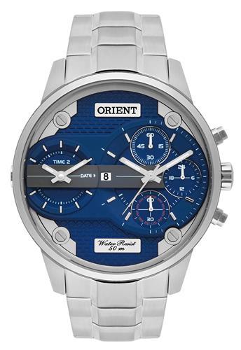 75d0d580468 Relógio Masculino Orient Analógico MBSST001 D1SX Fundo Azul