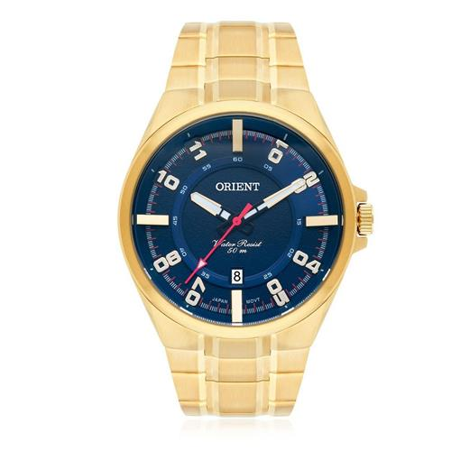 Relógio Masculino Orient Analógico MGSS1158 D2KX Dourado