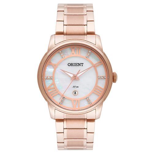 Relógio Feminino Orient Analógico Swarovski FRSS1029 B3RX Rose