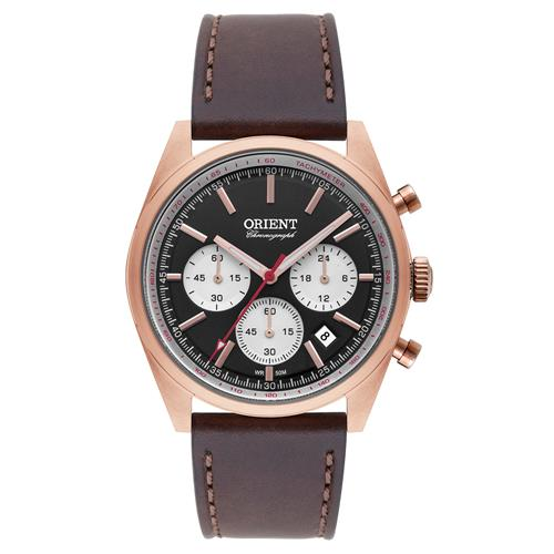 Relógio Masculino Orient Analógico MRSCC016 P1NX Couro Marrom