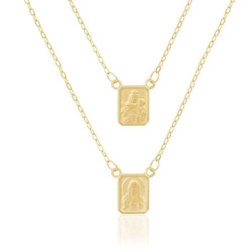 Escapulário Elos Cartier com 60 cm, em Ouro Amarelo
