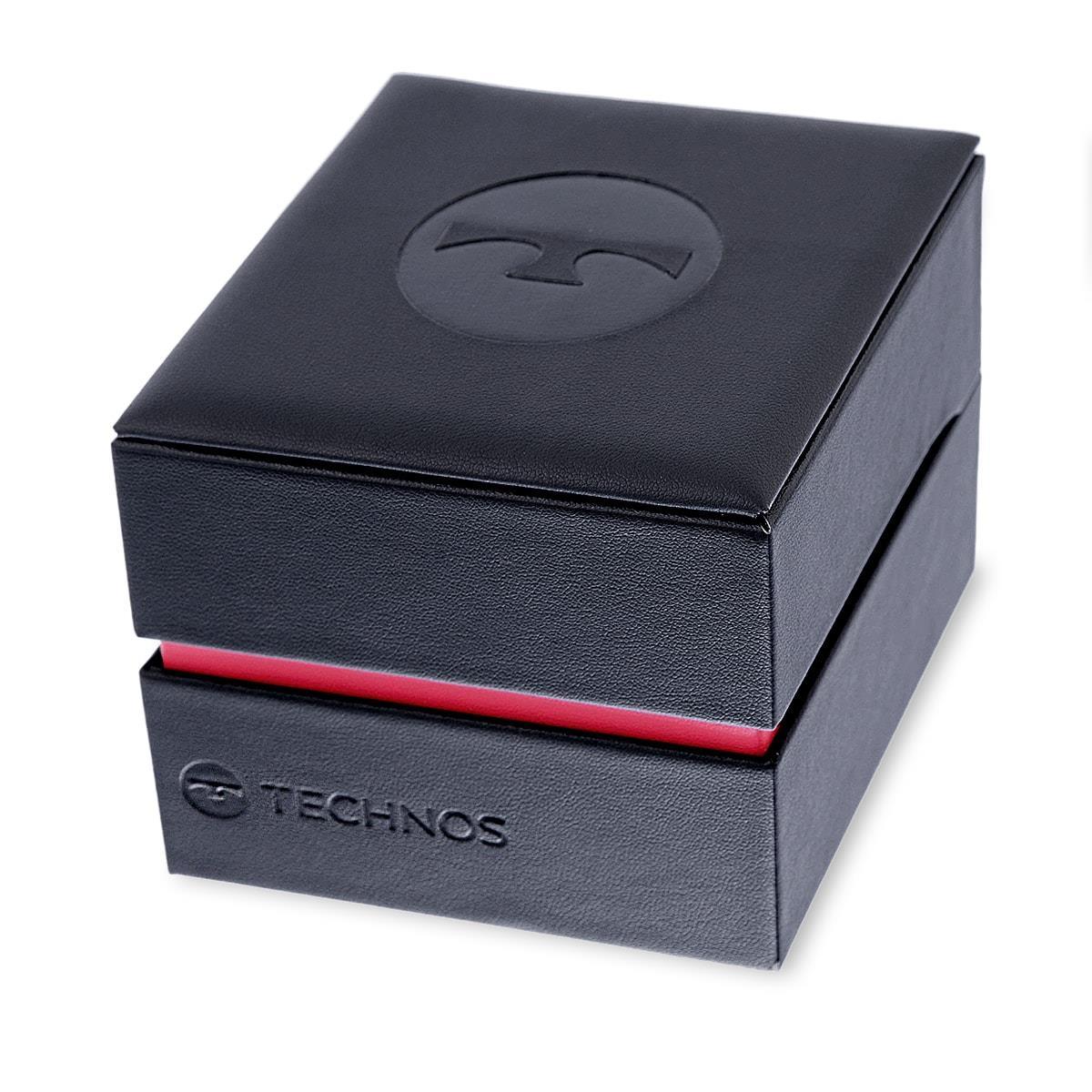 2db8cbf2da8 Relógio Masculino Technos Esqueleto Black Automático 8N24AI 4X Aço Negro