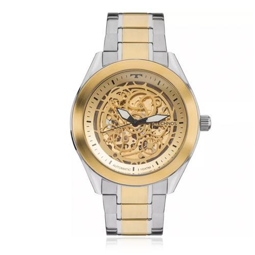 Relógio Masculino Technos Esqueleto Automático 8N24AJ/4X Aço Misto