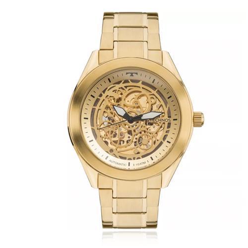 b2fa11b125b Relógio Masculino Technos Esqueleto Automático 8N24AH 4X Dourado