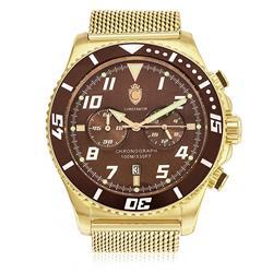 Relógio Masculino Constantim Analógico ZW30214O Gold Brown
