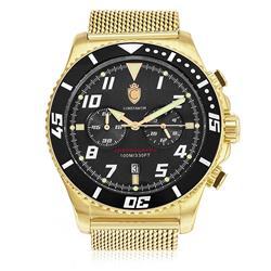 Relógio Masculino Constantim Analógico ZW30214U Gold Black