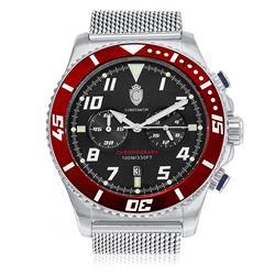 Relógio Masculino Constantim Analógico ZW30214V Silver Black Red
