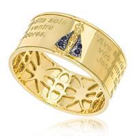 4f718082a9c Anel de ouro Aro 16 Nossa Senhora Aparecida com 4 Safiras