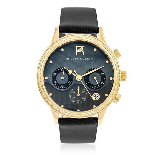 Relógio Feminino Phillip Kollin Santorini ZY28001P Gold Black