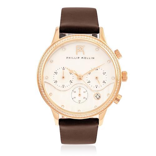 Relógio Feminino Phillip Kollin Santorini ZY28001Z Rose Brown
