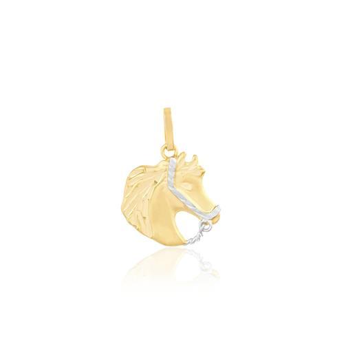 Pingente Cavalo trabalhado em Ouro Amarelo