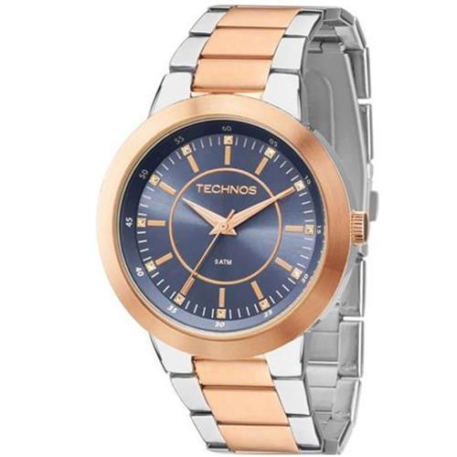 Relógio Feminino Technos Ladies Analógico 2035MFG 5A Aço rose misto 9997889add