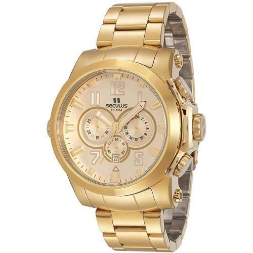 Relógio Masculino Seculus Chronograph 13005GPSVDA1 Dourado