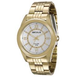 Relógio Masculino Seculus Long Life 28544LPSVDA1 Dourado