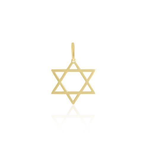 Pingente Estrela de Davi em Ouro Amarelo