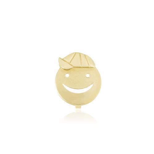 Pingente Menino com Boné, em Ouro Amarelo