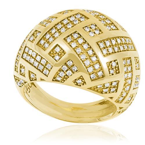 Anel com Diamantes totalizando 1,0 Cts., em Ouro Amarelo