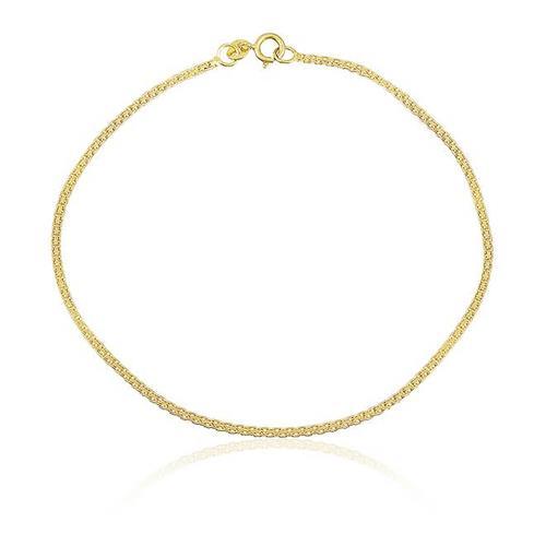 Pulseira Elos Cartier Triplos em Ouro Amarelo