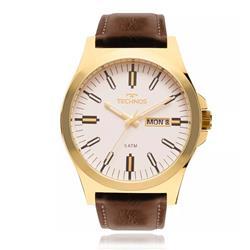 Relógio Masculino Technos Analógico 2305AZ/2B Couro Marrom