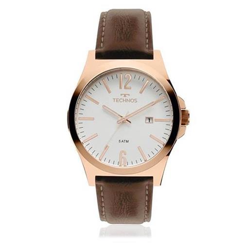 Relógio Masculino Technos Analógico 2115MMU/5B Couro Marrom